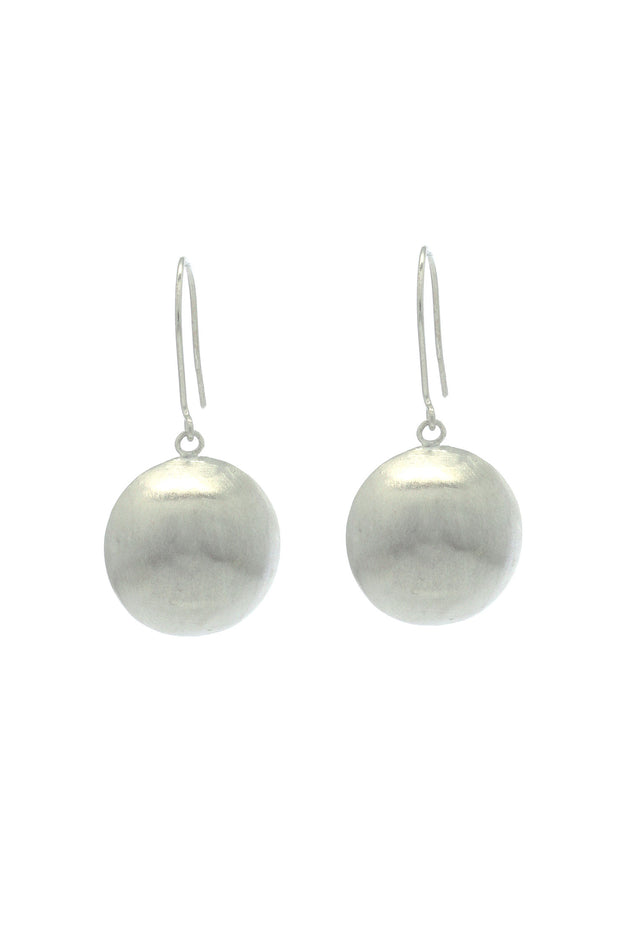 Silver Dome Earring