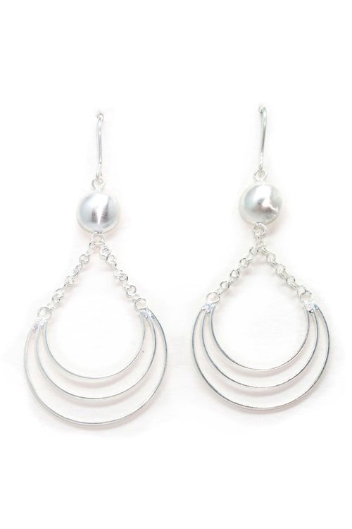 Silver Wire Domed Earring