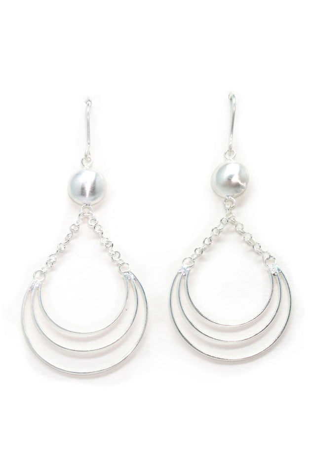 Silver Wire Domed Earring: Lawson Gems - Gemstone Jewellery