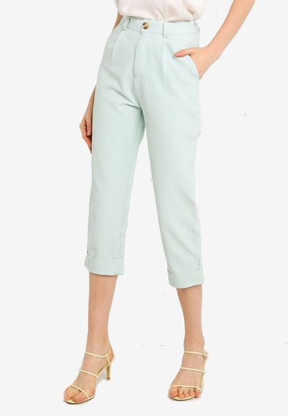 Brielle Cuffed Pants in Mint
