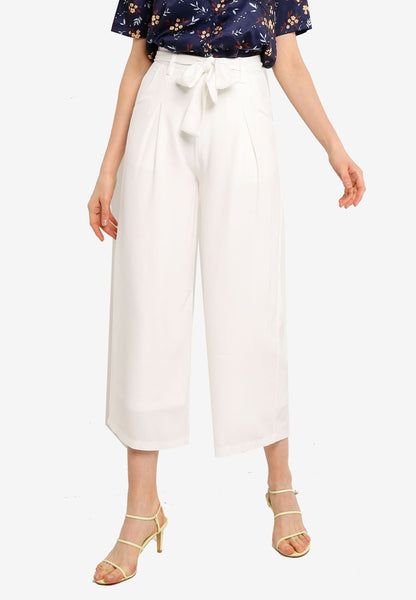 Haniela Wide Leg Pants in White