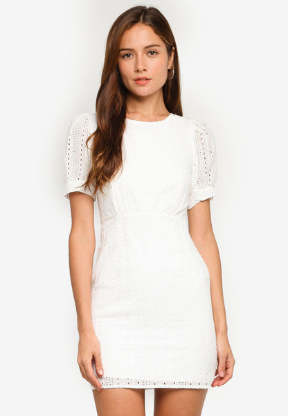 Talise Crochet Dress in White