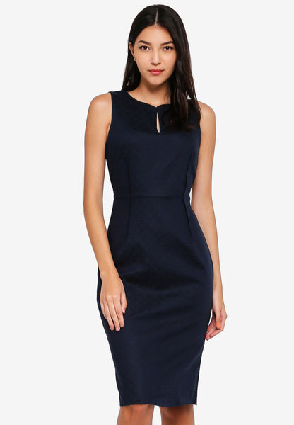 Adonia Sleeveless Sash Midi Dress - JULY