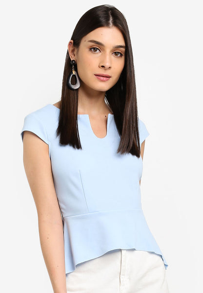 Sawyer Tailored Top In Dust Blue
