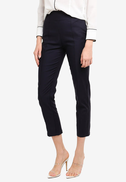 Cheilyn High Waist Pants In Navy Blue