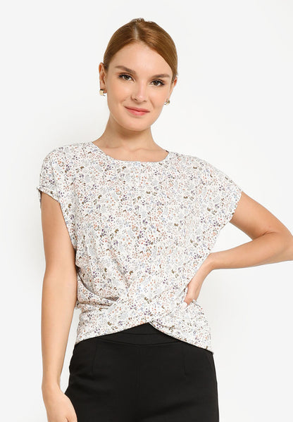 JULY Women Floral Print Blouse in White