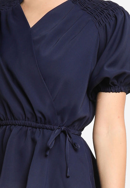 JULY Women Fluted Sleeves Top in Navy Blue