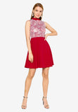 Camellia Cheongsam Dress in Red