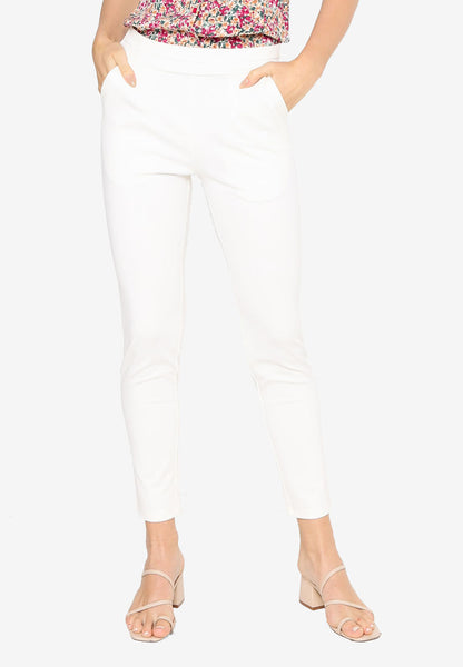 Women Ultra Stretch Pants in White ( Premium )