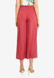 Haniela Wide Leg Pants in Brick Red