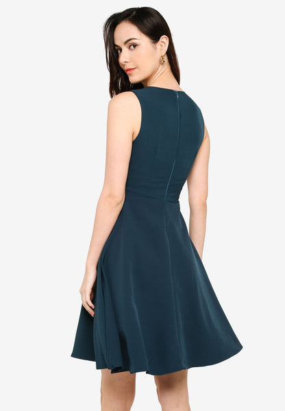 Josefina Overlap Dress in Green