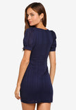 Talise Crochet Dress in Navy Blue