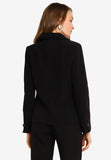 Lachelle Button Front Blazer in Black (Premium)