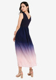 Kendra Ombre Maxi Dress in Navy Blue (Premium)