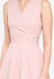 Josefina Overlap Dress in Dust Pink