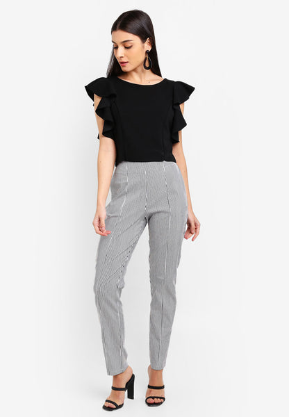 Petra High Waist Striped Pants