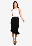 Calleo Ruffle Trumpet Skirt In Black