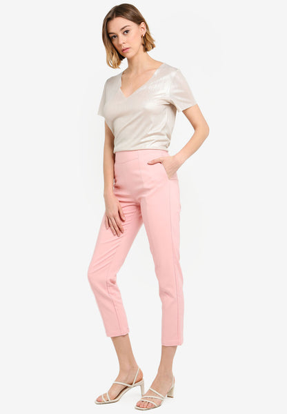 Cheilyn High Waist Pants In Dust Pink