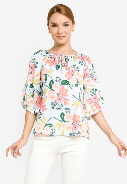 JULY Women Floral Print Blouse in Light Blue