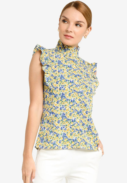 JULY Women Sleeveless Floral Print Top