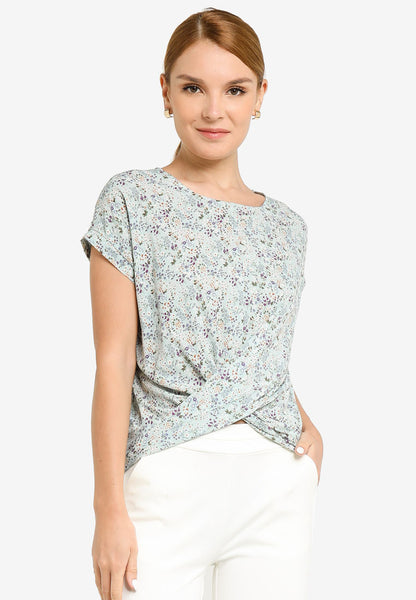 JULY Women Floral Print Blouse in Mint