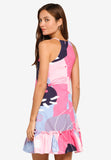 Ellis Abstract Prints Diphem Dress in Pink
