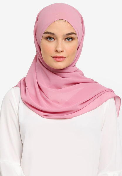JULY Hijab - Nebula Pearl Premium Shawl In Dusty Rose