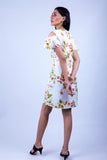 Hendi Cold Shoulder Midi Dress in Floral Print - JULY