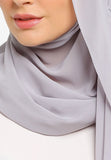 JULY Hijab - Freya Plain Shawl In Light Grey