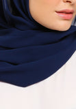 JULY Hijab - Freya Plain Shawl In Navy Blue