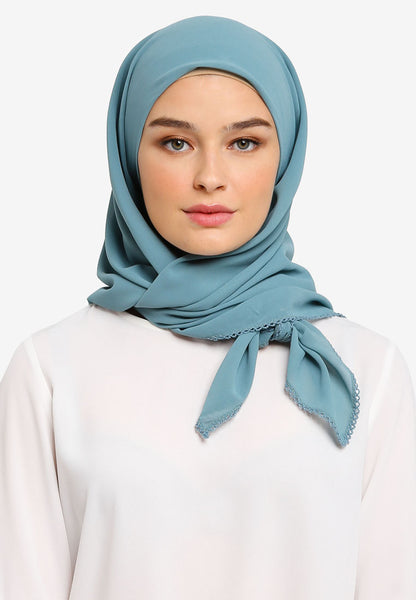 JULY Hijab - Aurelia Premium Pearl Chiffon In Smoke Green
