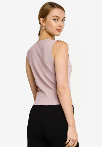 Adela Knit Top in Dust Pink