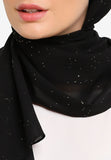 JULY Hijab - Nebula Pearl Premium Shawl In Black