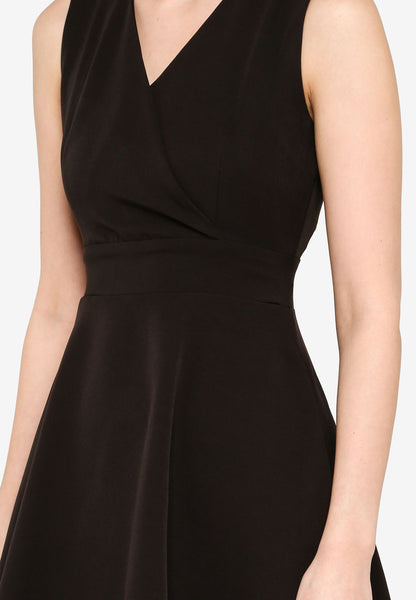 Josefina Overlap Dress in Black