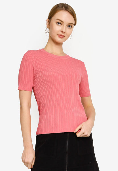 Cosette Knit Top in Pink