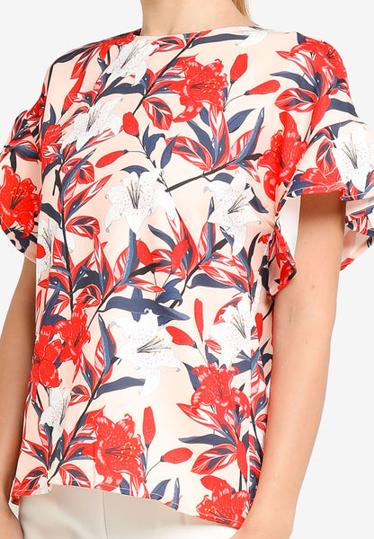 JULY Women Floral Print Blouse in Red