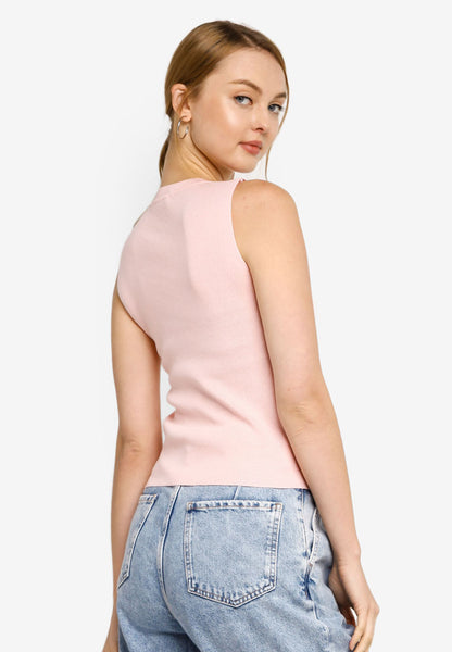 Nelia Knit Top in Pink