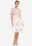 Parisa Floral Dress in Pink (Premium)