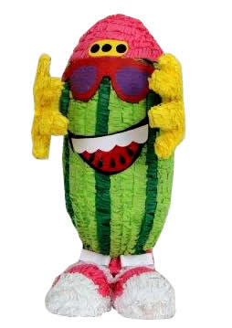 Piñata Promocional de Cool Watermelon Man