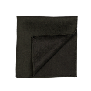 A solid deep dark green pocket square.