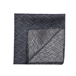 Black and white patterned fabric pocket square.