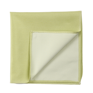 A fresh lime colored solid pocket square.