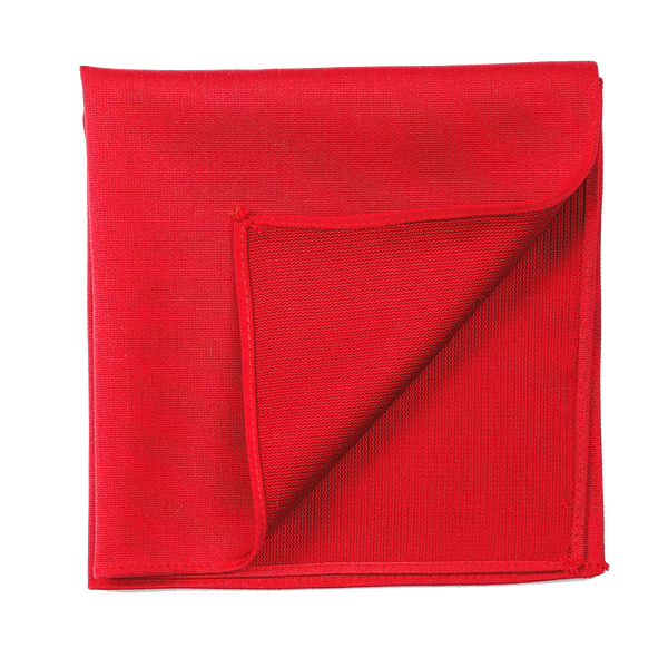 A simple yet elegant red pocket tie, with a matte finish.