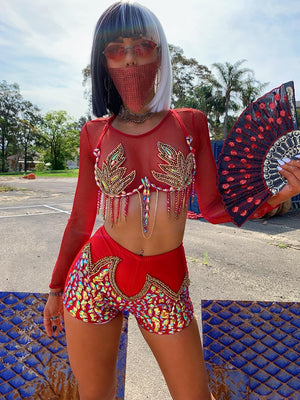 Red Fire Carnival Bra