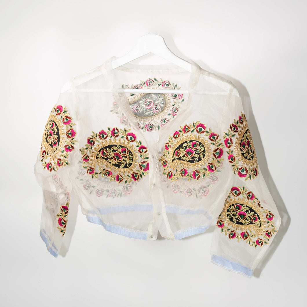 Embroidered Paisley Top
