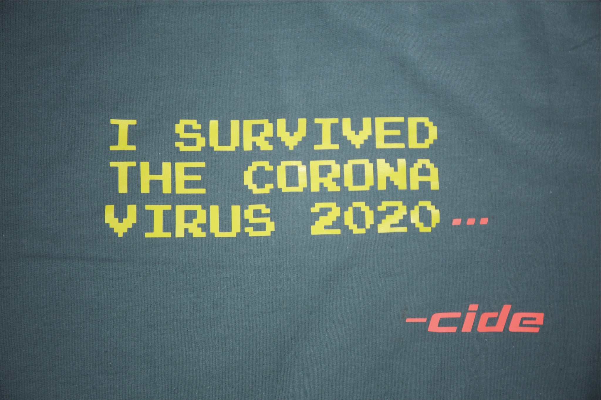corona survivor crew neck