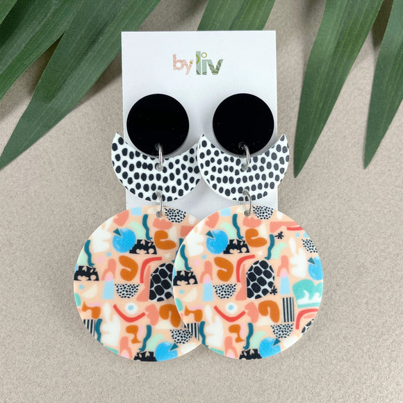 Rose gold mirror star hoops - 2 sizes!