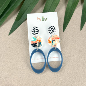 Gold mirror star hoops - 2 sizes!
