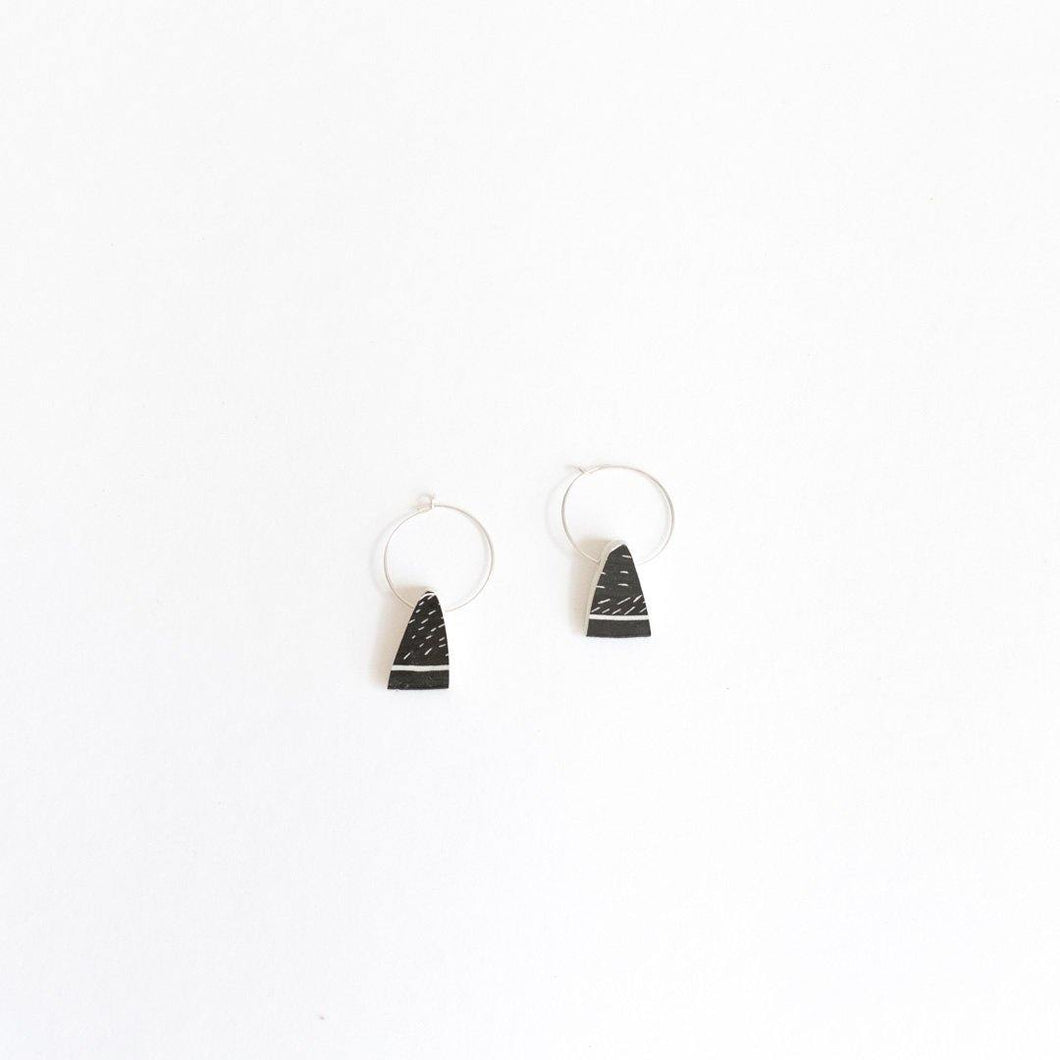 Anna Silver & Soapstone Earrings