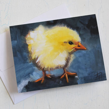Yellow Baby Chick Notecards